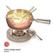Cheese Fondue Set Copper