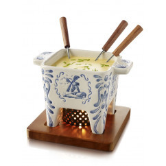 Cheese Fondue Delft Blue 代爾夫特藍色圖畫芝士火鍋